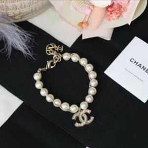 Authentic CHANEL Classic CC Crystal Pearl Bracelet